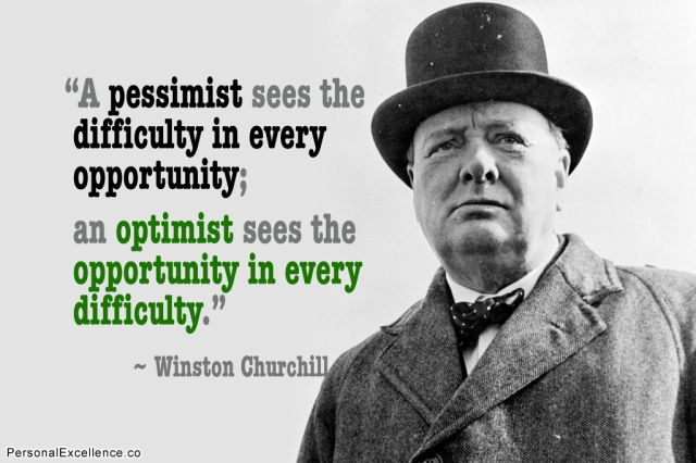 Churchill opportunity in difficulty quote